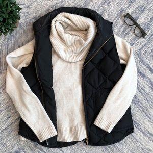 J. Crew Knit Wool Turtleneck Cream Sweater Medium